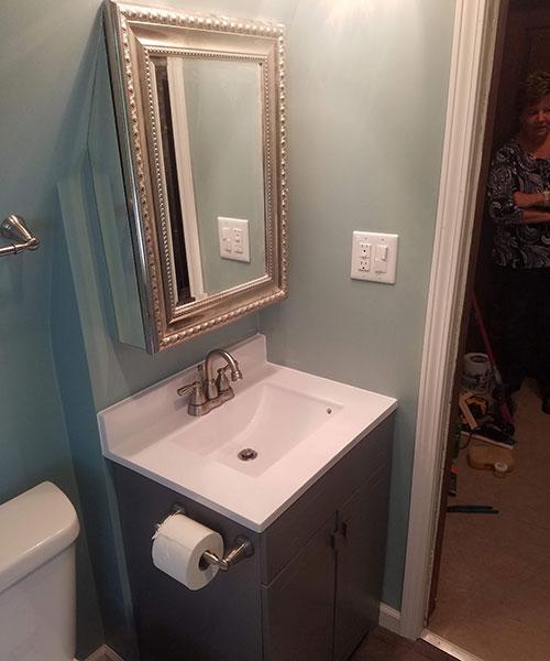 Small Bathroom Vanity View