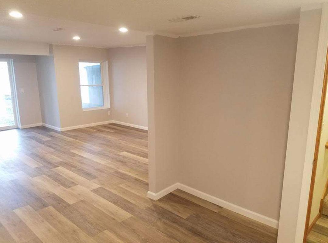 Basement Completely Remodeled Main Room