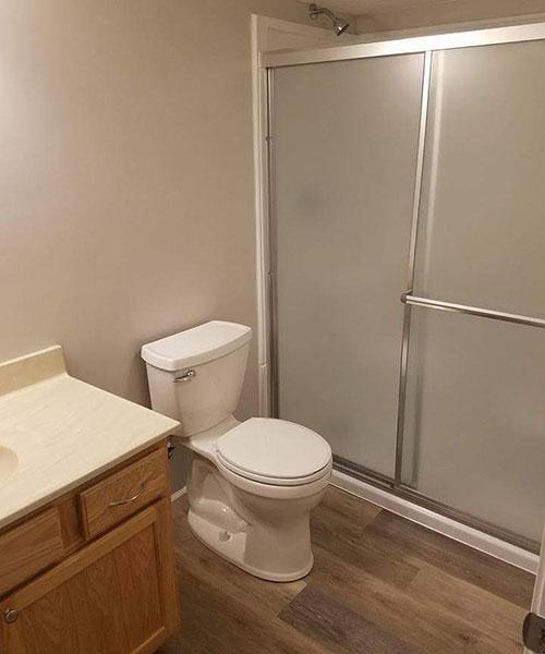 Bathroom Of Remodeled Basement