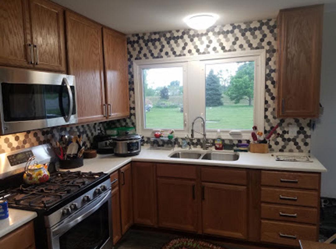 View Of Kitchen Towards Kitchen Sink and Window