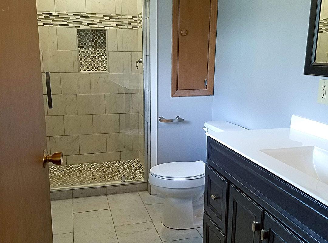 Doorway View Of Bathroom