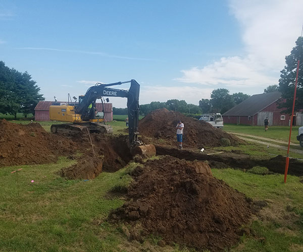 Digging For The Foundation Of Custom Home