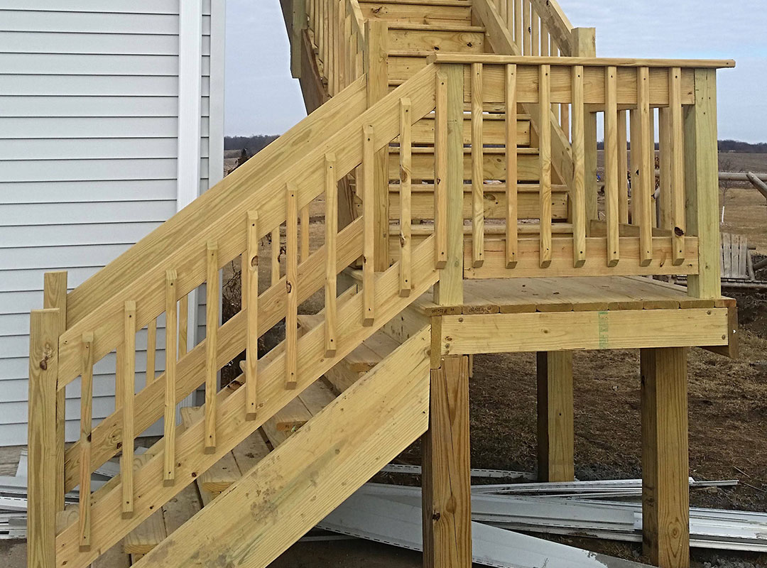 Exterior Wooden Staircase