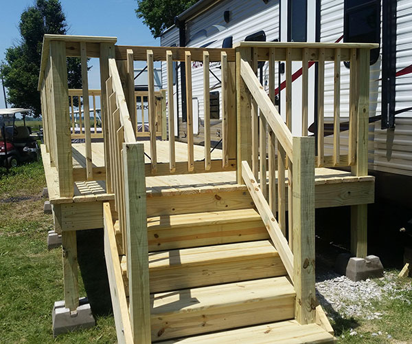 Stairs Up To Deck View