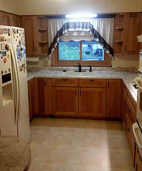 View Of Kitchen Down The Center