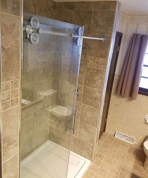 Open Glass Door On Shower