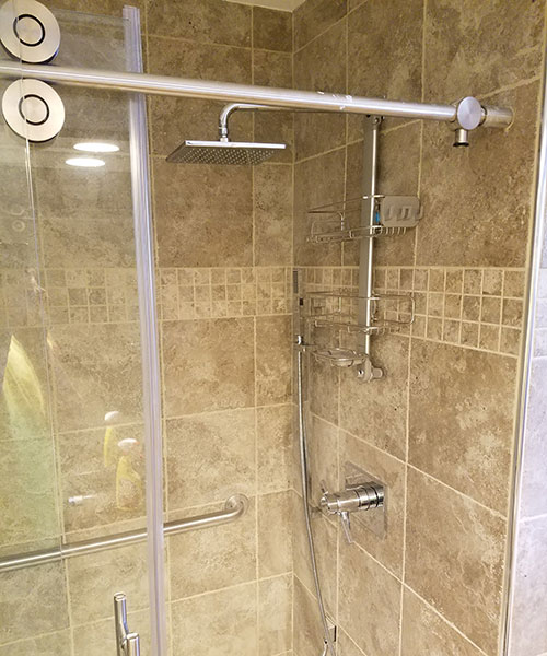 Closed Door To Shower