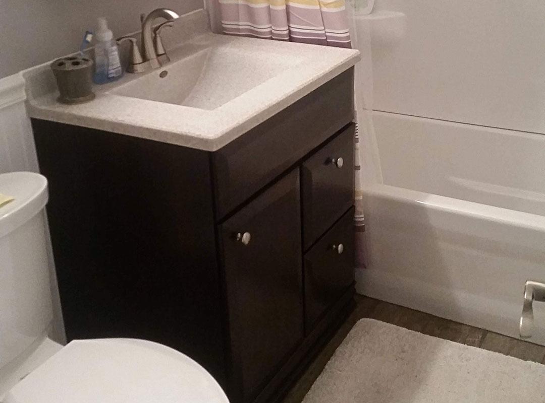Gutted Bathroom Vanity