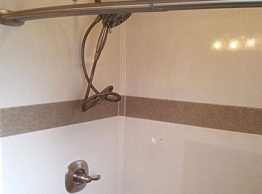 Shower Fixtures In Handicap Accessible Shower