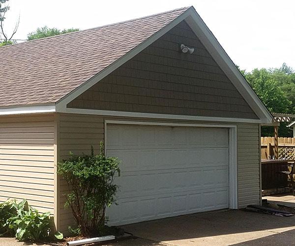 Newly Sided Garage