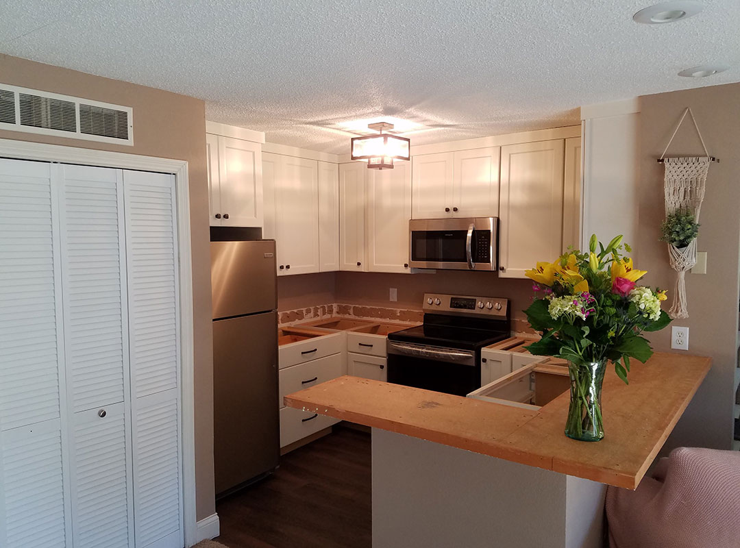 Finished View Of Updated Kitchen