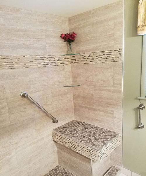 View Inside New Shower