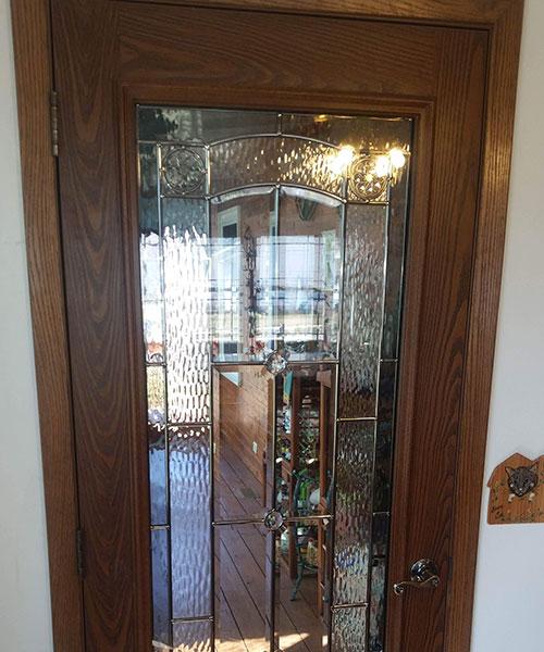 Leaded Glass Door Closed