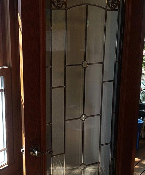 Opened Leaded Glass Door
