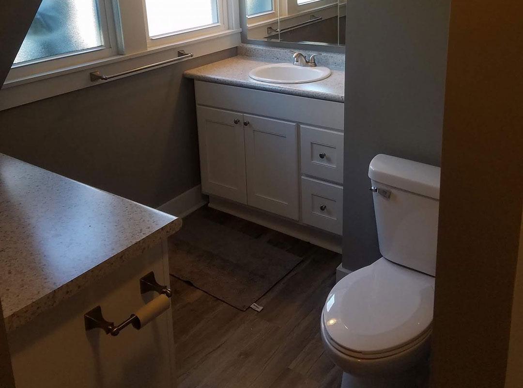View Of Small Bathroom From Door