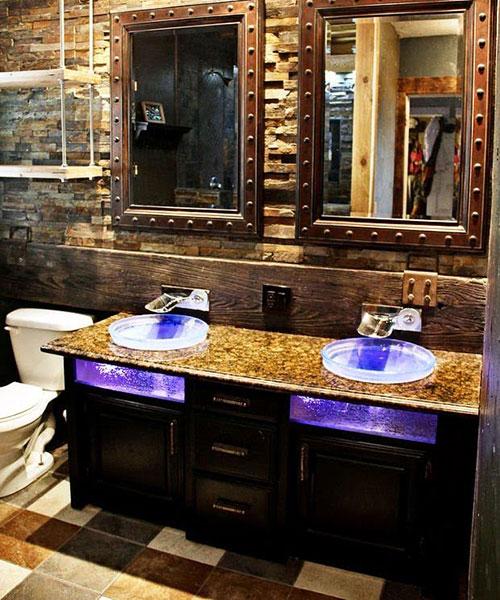 Tile Flooring With Vanity