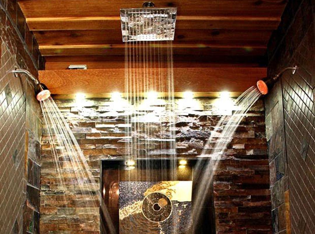 Waterfall Shower Head Stone Shower