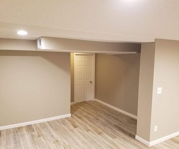 View Of Basement Towards Door
