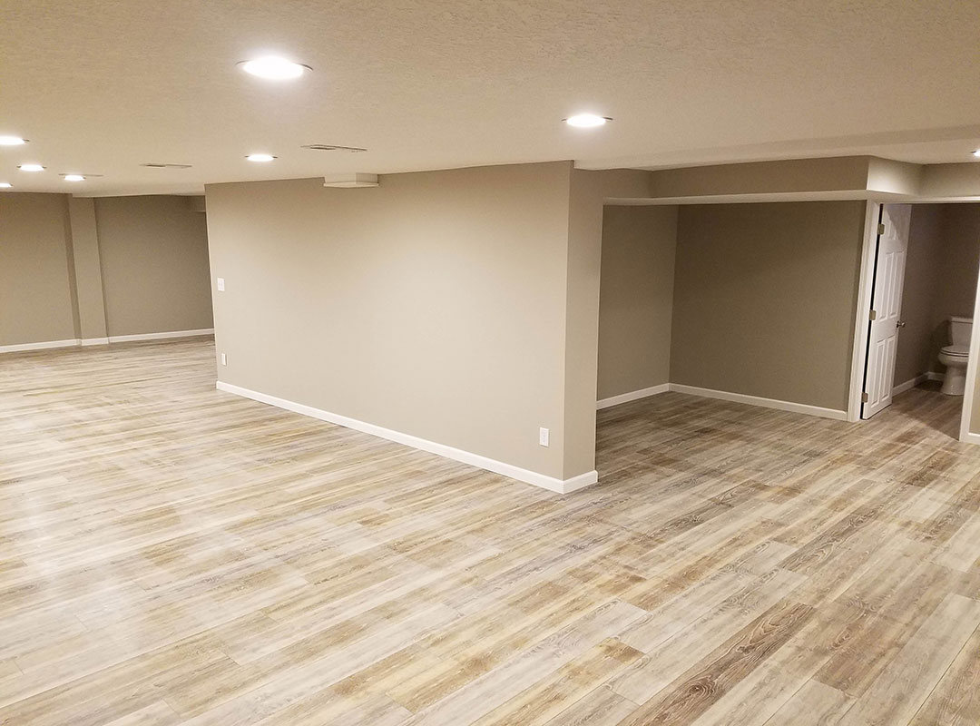 Large View Of Basement With Bathroom